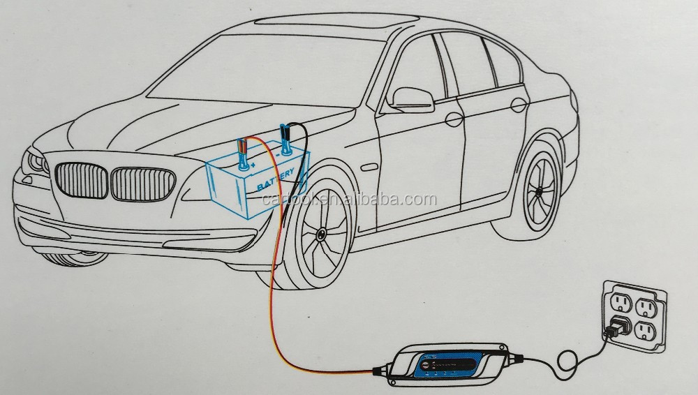 8 Steps New Portable Car Battery Charger 12v 2A Fully-automatic Car motorcycle battery charger