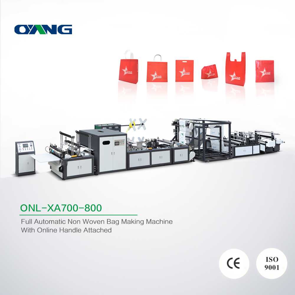 Latest full automatic non woven gift bag making machine in Wenzhou factory