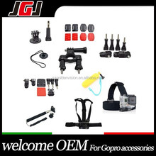 Hot Sale OEM Go Pro Accessories Kit Action Sport Camera Accessories Set for Gopro Horo 4 Session 4 3+ 3 2 SJ4000 for Xiaoyi