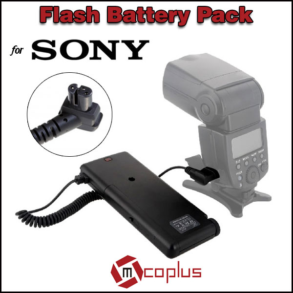 MCOPLUS SF-17 External Battery Adapter Flash Battery Pack SD8A-S for Sony Speedlite