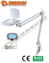 100V-240V High quality New LED magnifier lamp with 5D diopter of Ningbo ZD