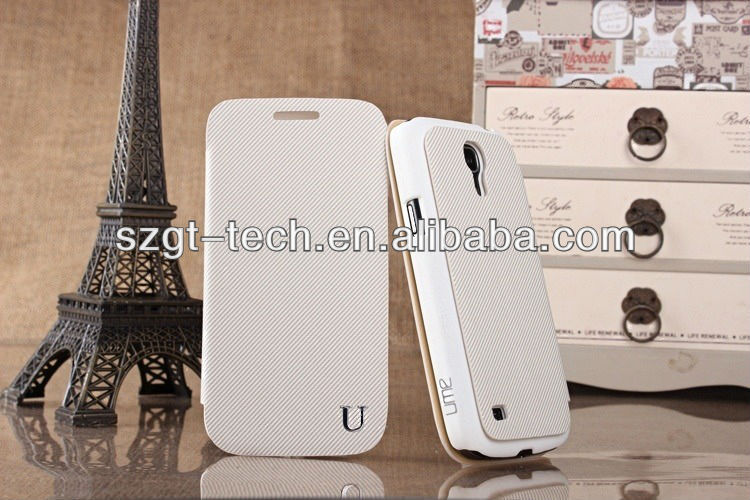 High quality For Samsung Galaxy S4 Mini Leather Case,Flip Case Cover for Samsung Galaxy S4 Mini