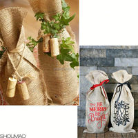 For Gift custom Burlap Wine Bags Wholesale