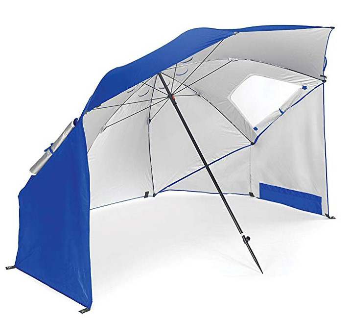 Wholesale Portable All-Weather and Sun 8-Foot Double Canopy Outdoor Beach Umbrella.
