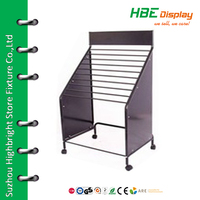 Wallpaper display stand carpet storage rack with wheels