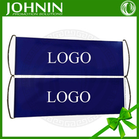 PET 25*70cm custom design blank hand held rolling banner