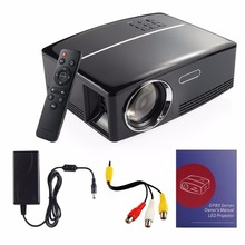 GP80 LED Portable MINI Projector, HD1080P LCD Multimedia Home Theater Projector 1800 Lumens