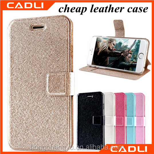 New Wallet Flip Type Stand Silk Texture PU Leather Cell Phone Case Cover For iPhone 6 Plus