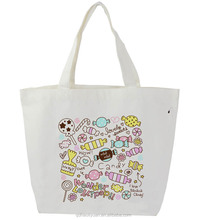 Hot sale promotional leisure Screen Printing 100% Cotton Canvas tote bag