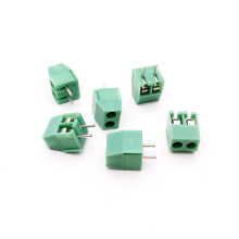 High Quality 100PCS 3.5mm Pitch Screw Terminal Connector 2 Pin Straight Leg KF350 Copper Green PCB Terminal Blocks