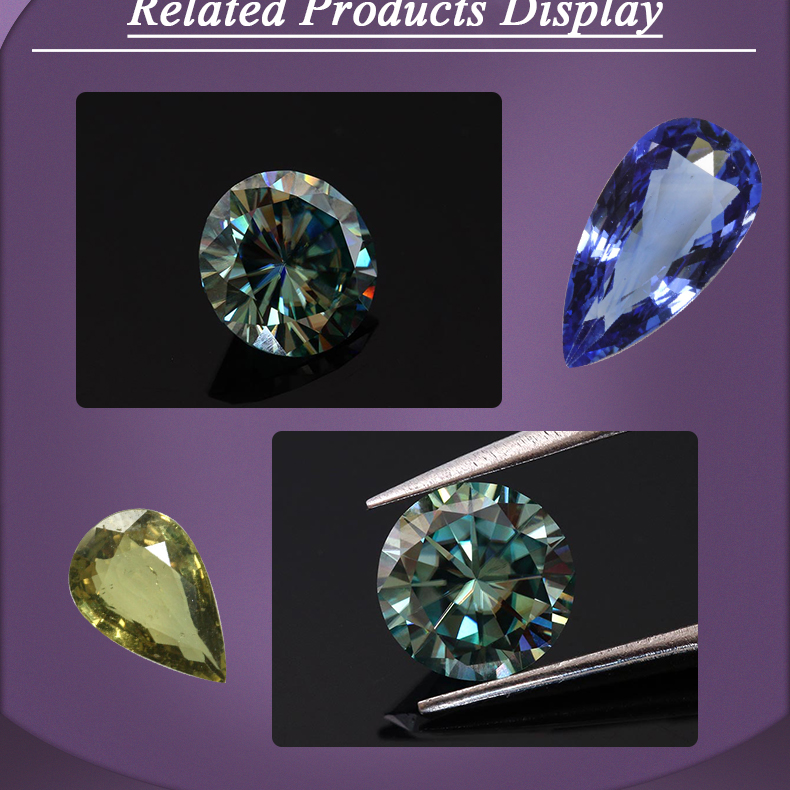 wholesales round shape neutral color blue zircon price per carat loose gemstone