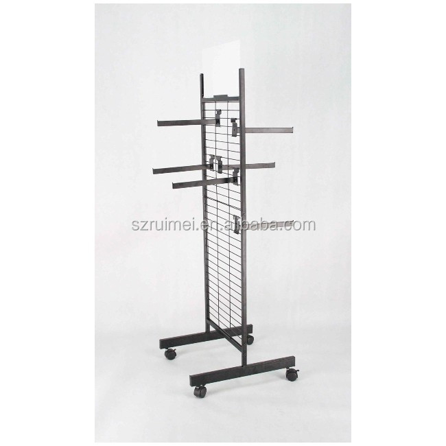 K/D 12 Faceout Hooks Double Sided Wire Slatwall Display Rack