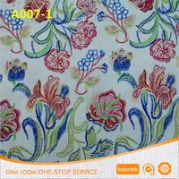 Two way stretch floral print cotton spandex fabric for garment