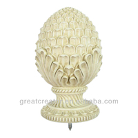 Cream Pineapple Curtain Rod Finial from China Home Decor Wholesale