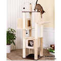 Luxury High Cat Scratcher Furniture Cat Jumping Toy Scratching Wood Climbing Tower Cat Tree