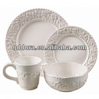 20pcs embossed dinnerware,ceramics dinnerware,porcelain dinnerware