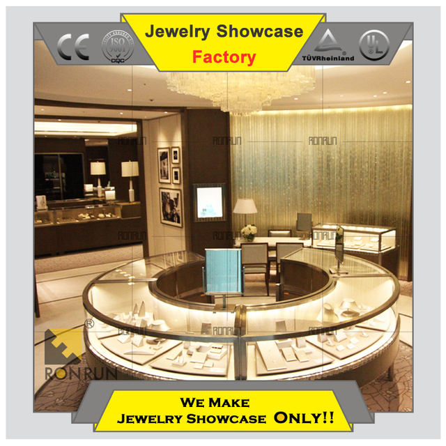 High end jewelry display showcase furniture for jewellery shop interior design ideas