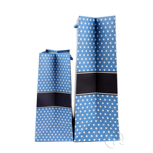 Offset printing recyclable blue polka dot gift shopping paper bag