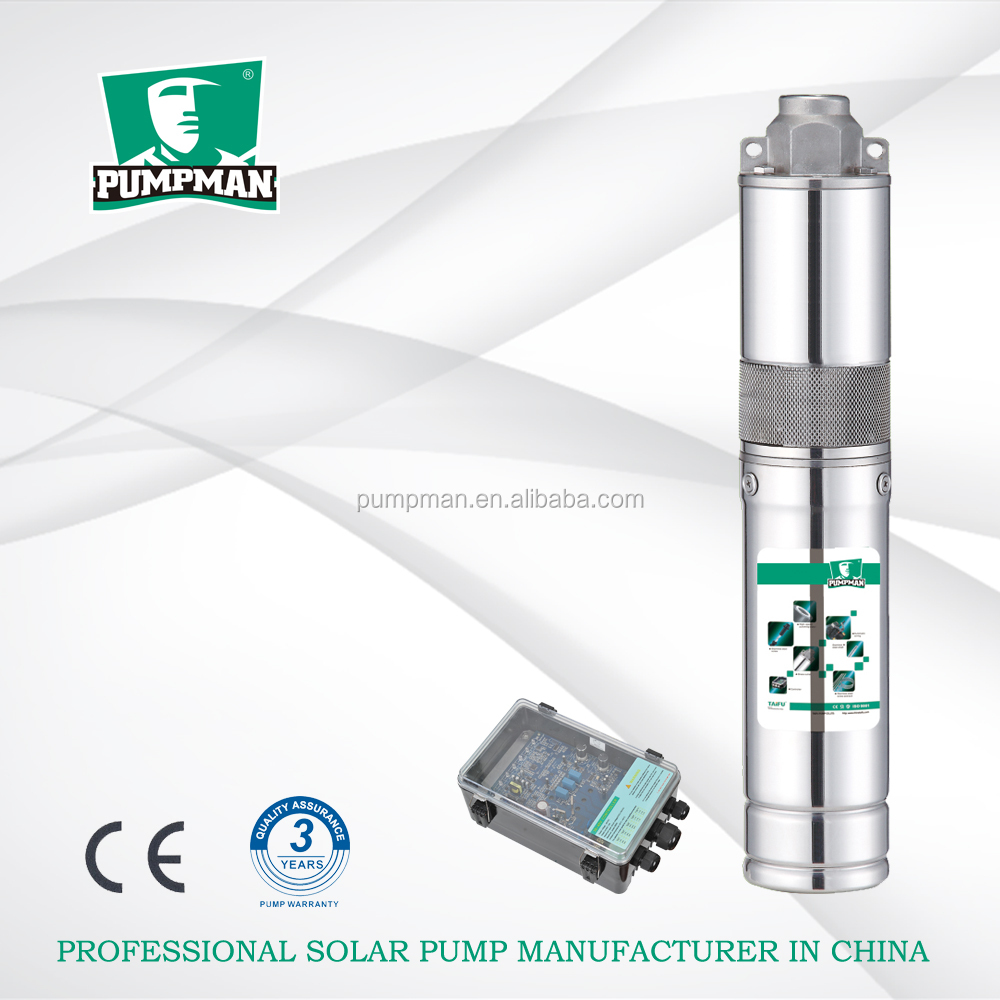 PUMPMAN 4TSS 48V dc motor solar power system for agriculture solar deep well water pump borehole pump