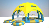 2015 New Design Giant Inflatable Pool with Top Cover Roof for Different Water Games