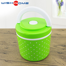 WISHOME brand factory direct sale travel work outdoor PP stainless steel Insulation barrels lunch box