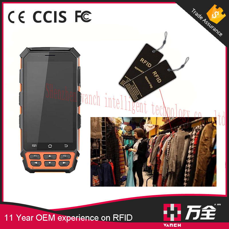 Industry Android 5.1.1 OS mobile handheld barcode scanners with RFID 4G LTE