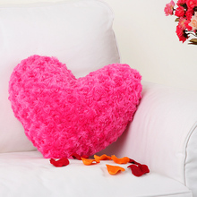 Pink Sublimation Wedding Heart Shaped Plush Pillow