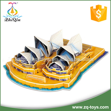 Sydney opera house 3d puzzle diy toy game for kids