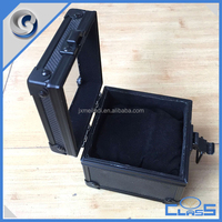 MLDGJ1200 Portable mini cheap portable black aluminum cheap jewelry box