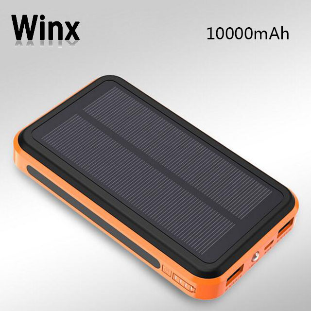 Winx Solar phone charger FCC CE ROHS high Conversion Rate Solar power bank 20000mah 15000mah 12000mah 10000mah