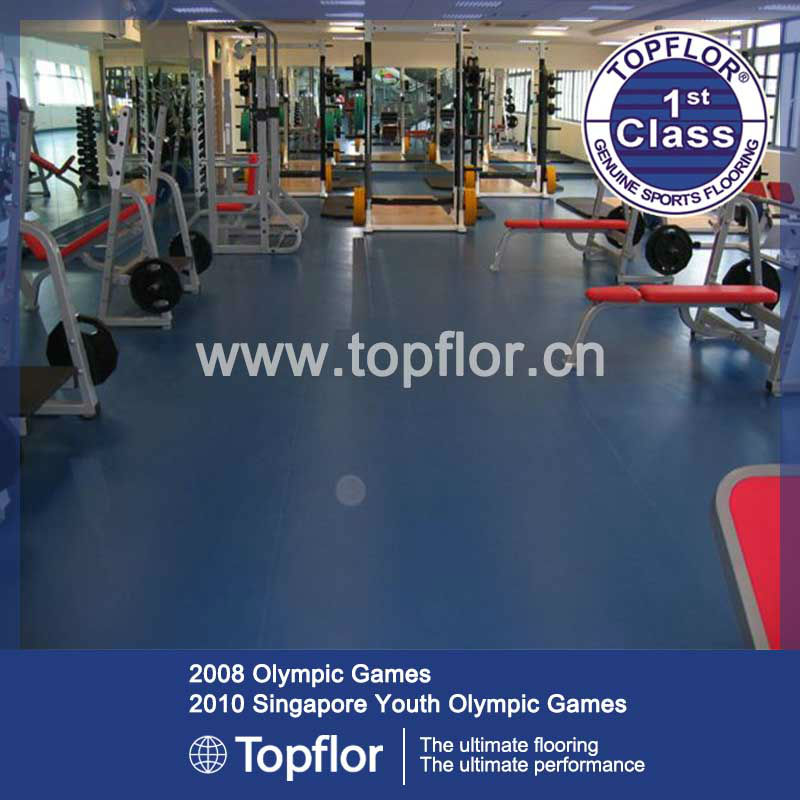 Indoor fitness floor rubber gym floor
