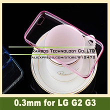 Crystal Clear Transparent Soft TPU 0.3mm TPU Gel Case Capa Paras for LG Optimus G2 G3 for Sony Xperia Z2 Z3 Compact