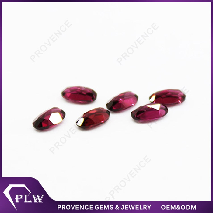 Natural oval cut red garnet gemstone in china