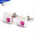 Jewelry shirt cufflinks for men high quality swank cufflinks value pink crystal brand cuff links