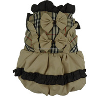 Wholesale simply xxx small Bow plaid puppy dog clothes