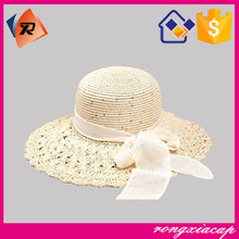 High Quality Custom Free Options Colorful Big Brim Straw Hat