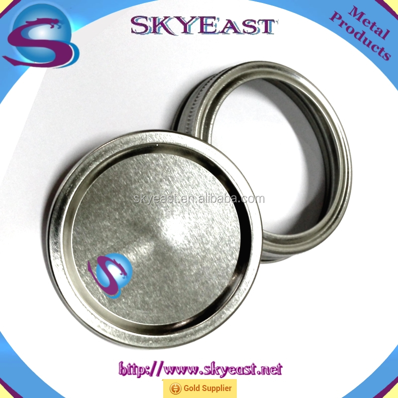 Hot Sale Printed Logo 2 Pieces Metal Lid with Plastic Coating