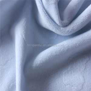 Embossed Minky Fabric from China Manufacture