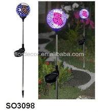 Dia 10cm Solar Mosaic Garden Light Mosaic Ball Solar Stick Light Solar Mosaic Glass Garden Stake Light Color Changing