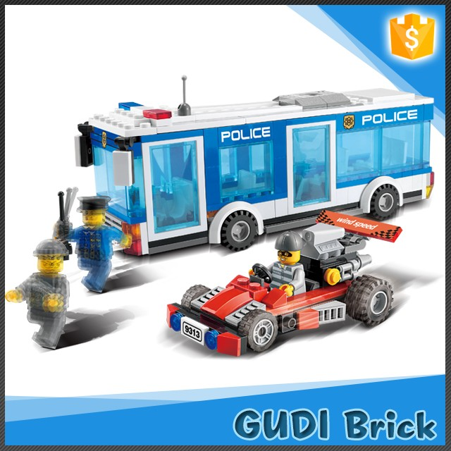 869 PCS ABS safe material police station toy game educational block toy