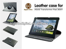 New 360 degree rotary stand leather case for Asus Eee Pad & for Asus Transformer TF300