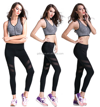 OEM Custom Women Sexy Fashion Dri Fit Fitness &Yoga Wear Yoga pants ,Fitness girls Leggings ,WorkOut Clothes Set Sports Gym Wear