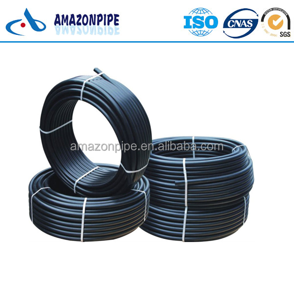 Buried hdpe rolled pipe 3 inch 4 inch 75mm 90mm water flow tube