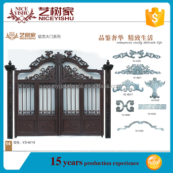 Luxury High Quality Aluminum Alloy Garden Gate With Motor,courtyard Security  Gate/Fence Gate