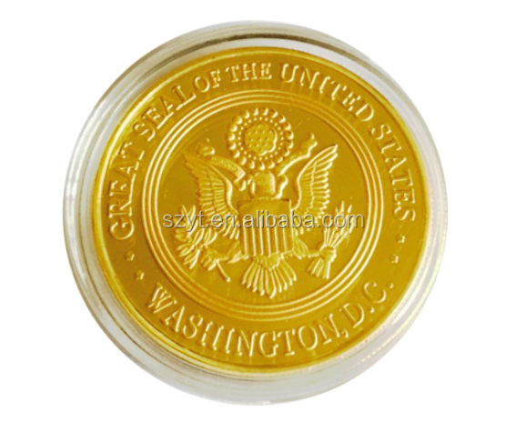 cheap custom token gold eagle replica/chocalate coins