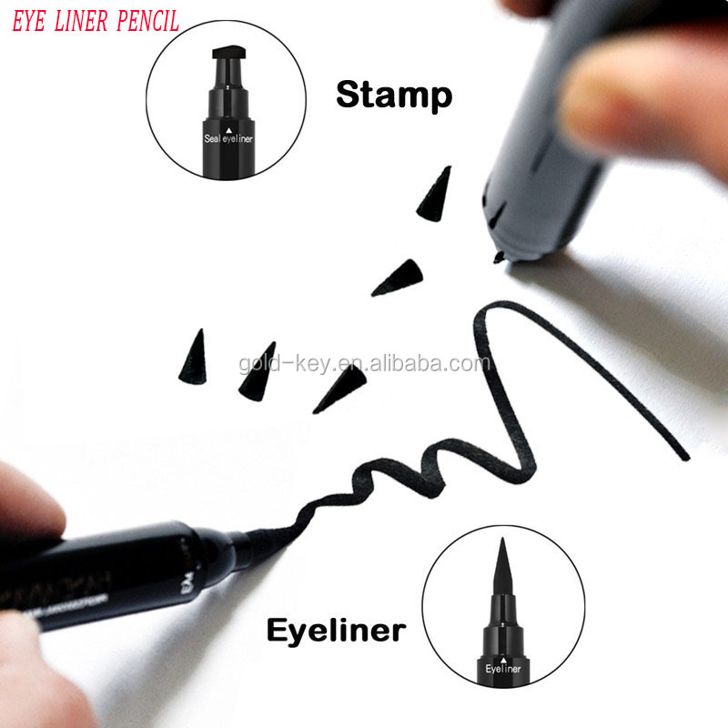 EYE LINER Makeup with winged eyeliner stamp eyebrow tint eye liner pencil
