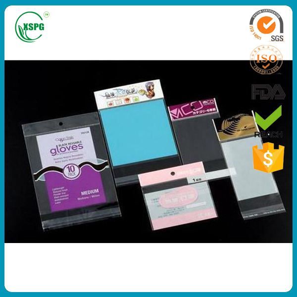 Opp bags, Custom Packaging Bags With Self Adhesive Sealing Tape Cellophane Header Printed Opp Bopp Plastic bag
