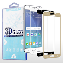 Chrome Printed Color 9H Tempered Glass Screen Protector for Samsung Galaxy J7 2016