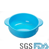 Wholesale Portable Anti-fall humanized design children silicone bowl baby bowls with handles