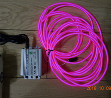 "The third generation""Polar light 3""Super Luminance 250cd 5mm Purple EL WIRE"